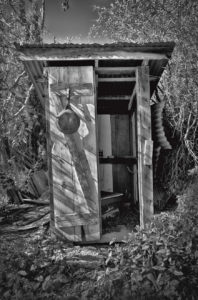 Outhouse at Casa Colibri in The Gulch section of Jerome